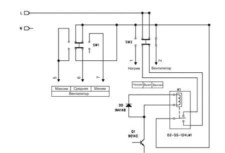 Электрическая схема пульта